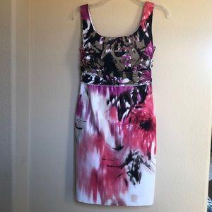Tahari floral tank dress